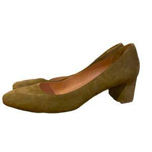 Kate Spade Women's Taupe Suede 8.5 Block Heels